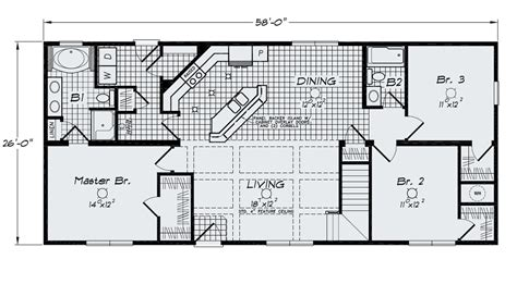 large kitchen floor plans open floor plan large kitchen bar island sink standard