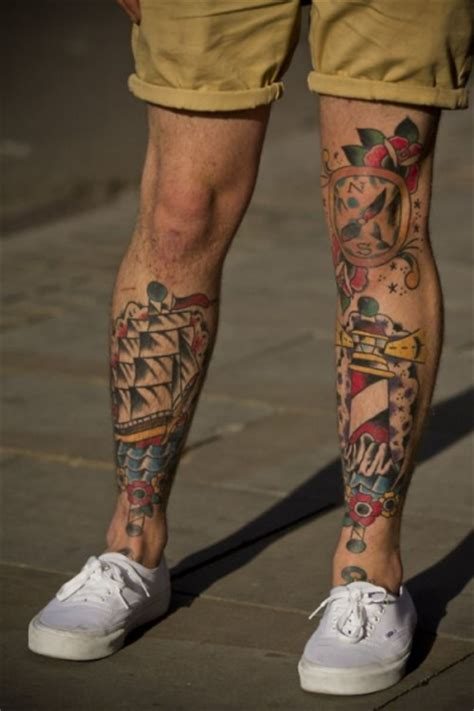mens calf tattoos leg sleeve tattoos designs ideas and meaning tattoos
