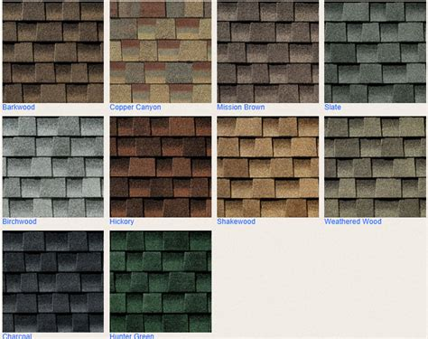 timberline shingles color chart certified roofing contractor review timberline hd roofing