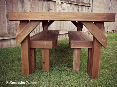 build a picnic bench build a cedar picnic table the contractor chronicles