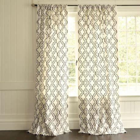 white trellis curtains firenze embroidered panel curtain mediterranean