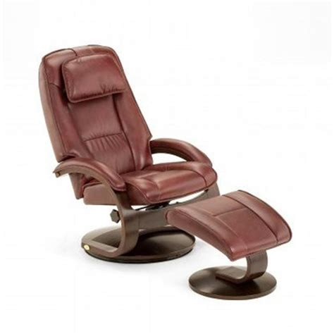 reclining leather chair ottoman home decorators collection taupe leather reclining chair