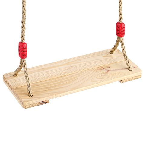 hanging swing seat indoor outdoor children kids 2pcs hardwood wooden hanging