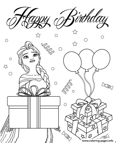 elsa birthday coloring page elsa wishes you happy birthday colouring page coloring
