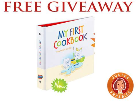 My First Giveaway - free my first cookbook giveaway 500 winners julie s freebies