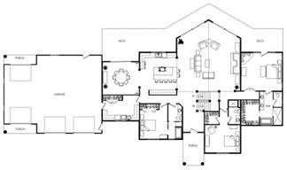 Floor Plans For Small Homes Open Floor Plans by Dundee Lodge Log Homes Cabins And Log Home Floor Plans