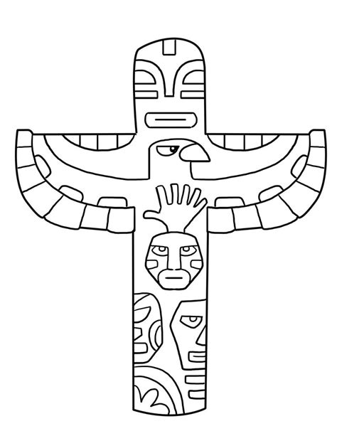 coloring pages totem animals free printable totem pole coloring pages for kids