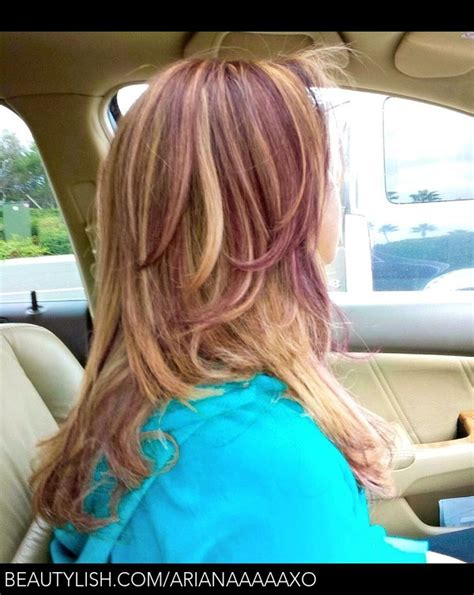 blonde highlights with mahogany low lights velvet mahogany blonde highlights with lowlights yasa a