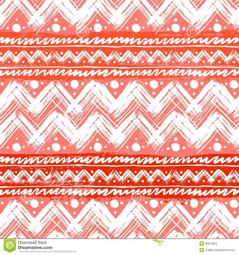 Superior Ethnic Christmas Cards #3: Ethnic-pattern-painted-zigzag-brushstrokes-vector-seamless-hand-bold-stripes-bright-red-can-be-used-print-39813353.jpg