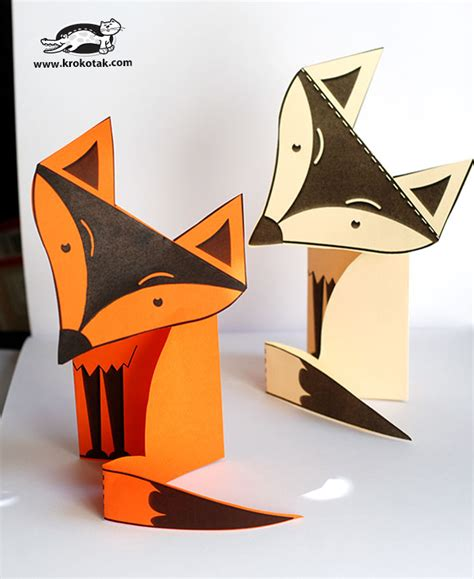 Halloween Decorations To Make At Home Krokotak Paper Fox