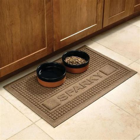 mats on dogs personalized pet food mats at brookstone buy now