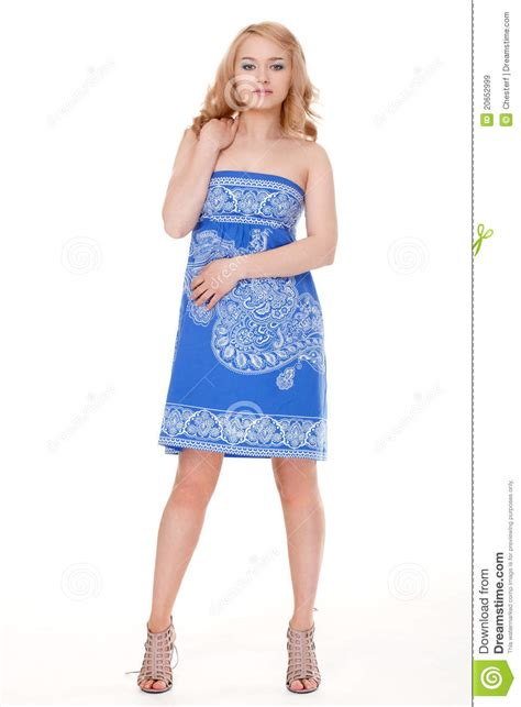 who is the woman wearing a blue dress in the viagra commercial woman posing wearing blue dress royalty free stock images