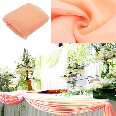peach colour 10m 1 35m organza swag fabric wedding