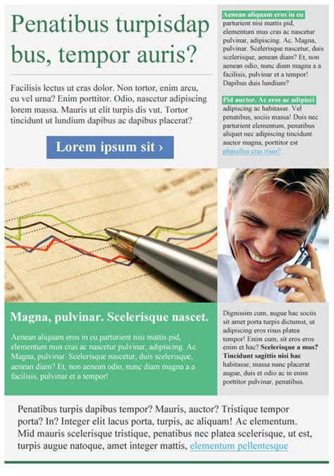 Financial Services Newsletter financial services newsletter templates email marketing gr