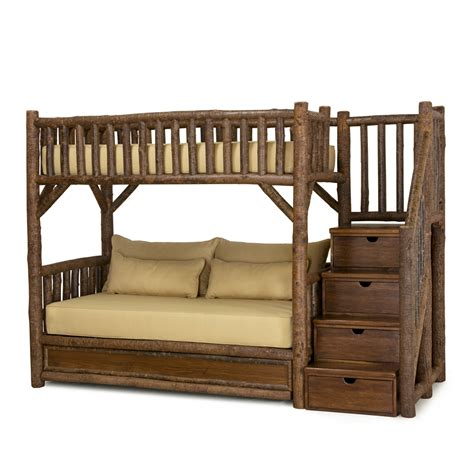 Stairs For Bunk Bed by Rustic Bunk Bed With Trundle And Stairs La Lune Collection