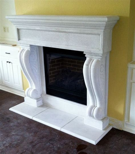 custom concrete fireplace mantels by stone effects