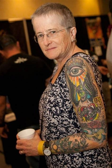 old lady with tattoos pensioners show skin covered in tattoos daily mail