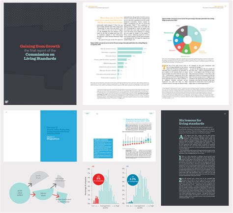 report layout design ideas report design for the commission on living standards