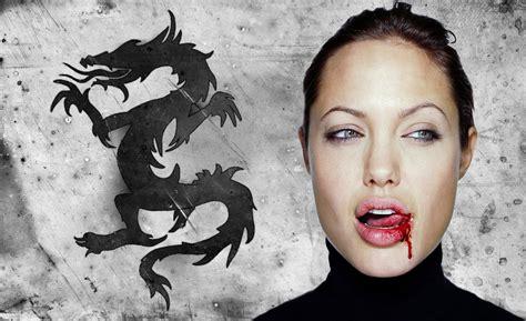 Tattoo Dragon Angelina Jolie   jolie dragon angelina jolie fan art 27369779 fanpop