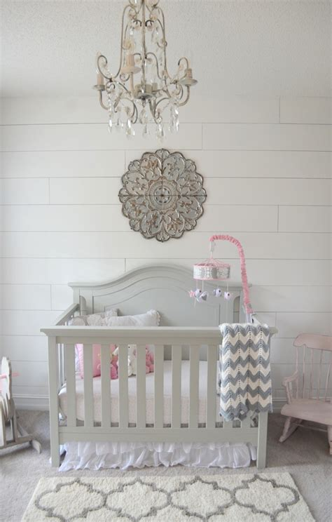shiplap wall   nursery   install  faux shiplap