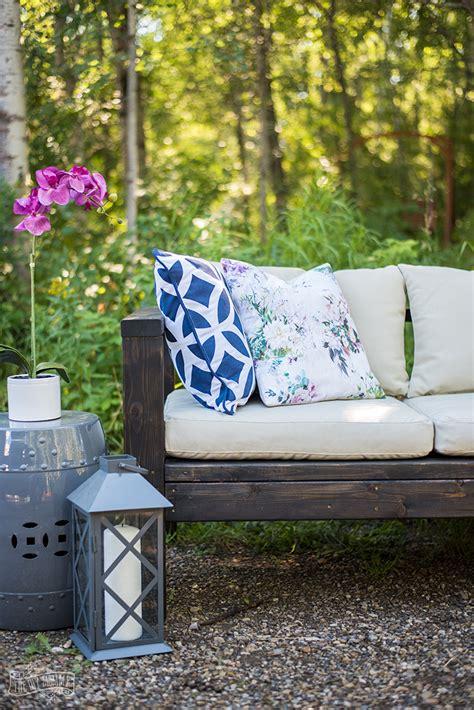 build  diy outdoor sofa video