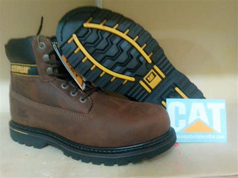 Sepatu Boots Safety Caterpilar Holton Steel Toe 4 jual sepatu safety caterpillar holton st brown