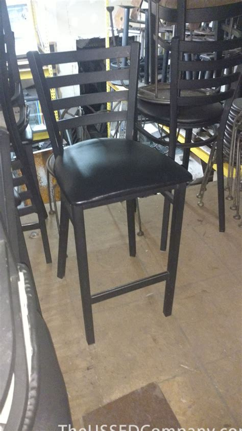 Used Bar Stool by Used Black Bar Stools With Vinyl Seats The Ussed Company