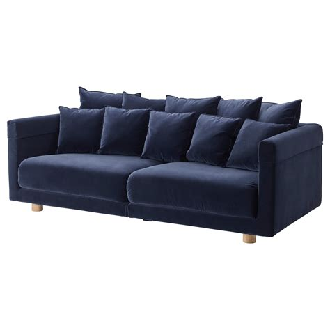 blue sofas stockholm 2017 three seat sofa sandbacka dark blue ikea