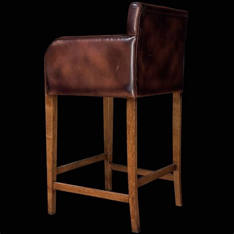 Bar Stools Leather And Wood by Leather Wood Bar Stools For Sale At 1stdibs