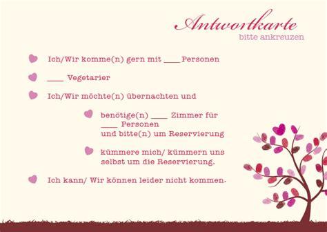Hochzeitseinladung Lebensbaum by Antwortkarten Lebensbaum