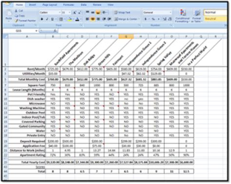 product comparison spreadsheet images frompo 1