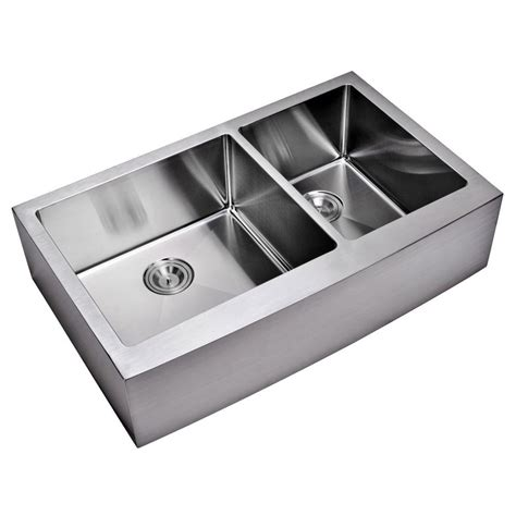 Water Creation Farmhouse Apron Front Small Radius Small Kitchen Sinks Stainless Steel