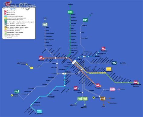 rome metro map rome subway map toursmaps