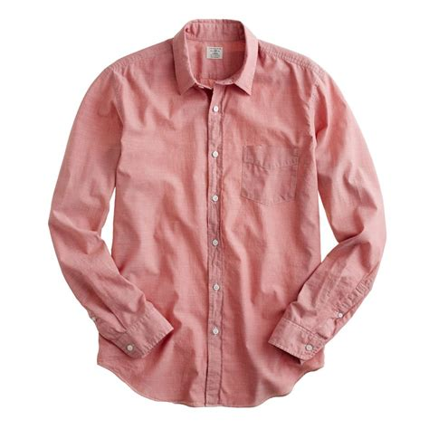 mens light chambray shirt j crew lightweight chambray shirt in red for men old barn