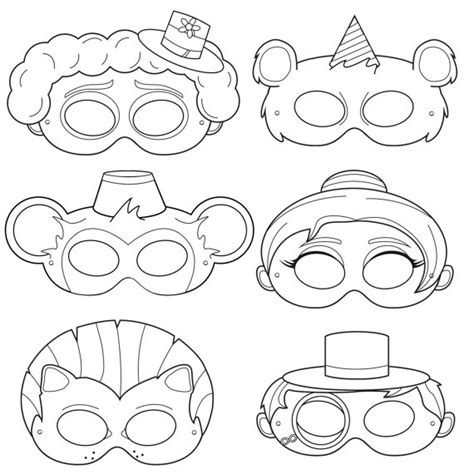 clown mask template clown mask template gallery template design ideas