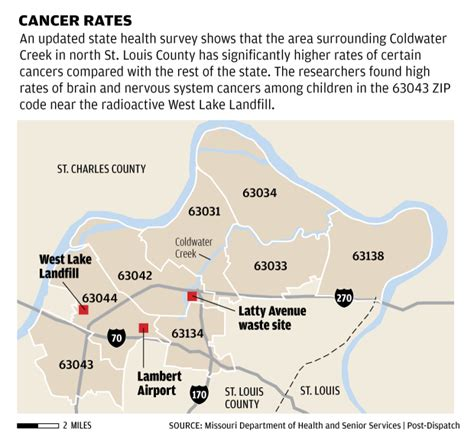 coldwater creek map state now asks for inquiry into county cancers