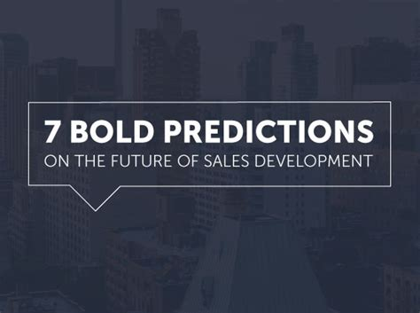 the future is waiting bold predictions about how the future will look like books 7 bold predictions on the future of sales development by