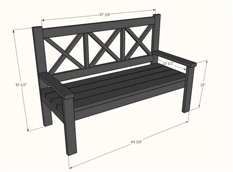 dimensions of bench ana white large porch bench alaska lake cabin diy