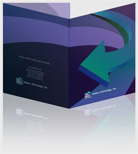 Presentation Folder Design Template free indesign templates presentation folders 2