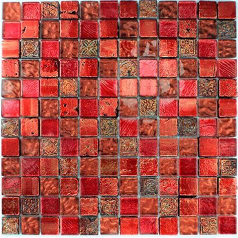 rote fliesen muster glas kalkstein marmor mosaik fliesen lava rot ebay