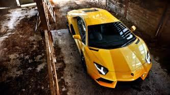 Pictures Of A Yellow Lamborghini Yellow Lamborghini Aventador Wallpaper Hd Car Wallpapers