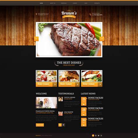 pizza shop website template website vorlage 47122 f 252 r steakhaus