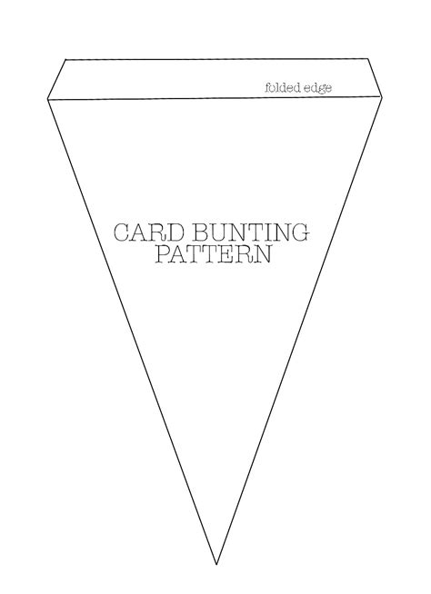printable bunting template couture craft card bunting pattern learn how to make on