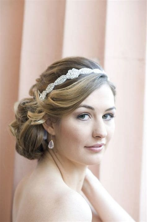 low hair on head beautiful bridal hairstyles with head bands hairzstyle