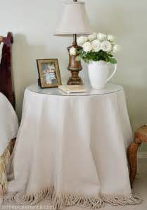 Cloth Table Skirts Creative Home Expressions Table Skirts For The Master Bedroom