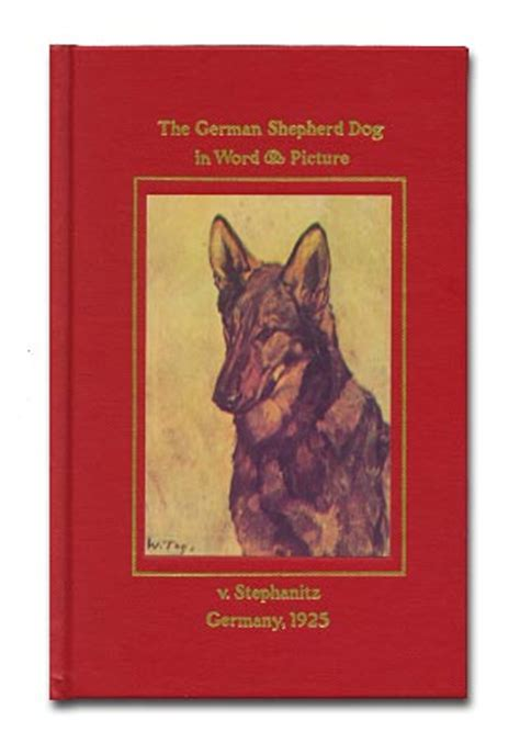 german words for dogs the german shepherd in word and picture a book by max stephanitz in books