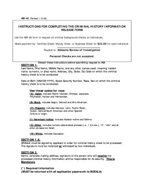 Alabama Bureau Of Investigation Background Check Bill Of Sale Form Alabama Model Release Form Templates Fillable Printable Sles