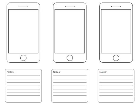storyboard template app free printable sketching wireframing and note taking pdf