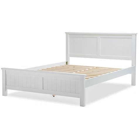 white queen bed frame snow queen size wooden geometric bed frame white buy