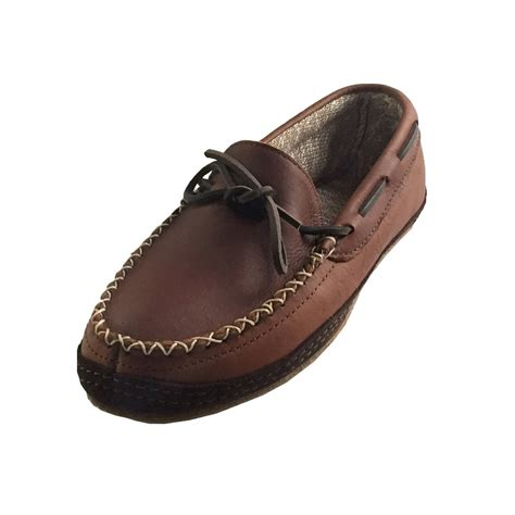 moccasins shoes for s rubber sole brown genuine leather moccasins